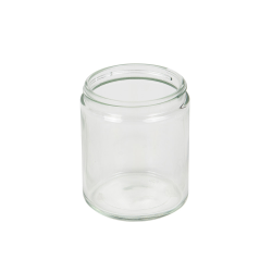 8 oz. Clear Glass Straight Sided Jar with 70/400 Neck - Case of 12 (Cap Sold Separately)