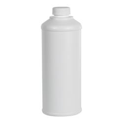 16 oz. White HDPE Round Steel-Yard Bottle with 28/400 Plain Cap