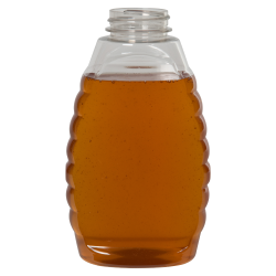16 oz. (Honey Weight) Clear PET Inverted Queenline Bottle with 38/400 Neck (Cap Sold Separately)