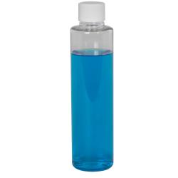 4 oz. Clear Slim PET Cylinder Bottle with 24/410 Plain Cap