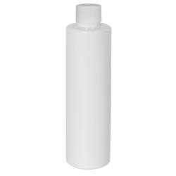 4 oz. White Slim PET Cylinder Bottle with 24/410 Plain Cap