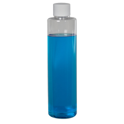 6 oz. Clear Slim PET Cylinder Bottle with 24/410 Plain Cap with F217 Liner