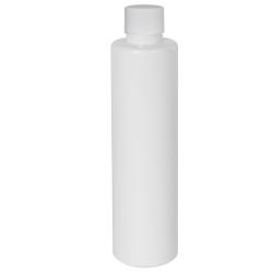 6 oz. White Slim PET Cylinder Bottle with 24/410 Plain Cap