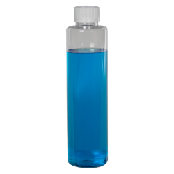 6 oz. Clear Slim PET Cylinder Bottle with 24/410 CRC Cap with F217 Liner