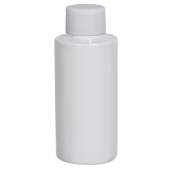 2 oz. White PET Cylindrical Bottle with 20/410 Plain Cap