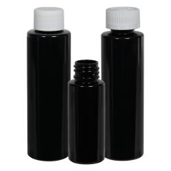 HDPE Cylindrical Sample Bottles & Caps