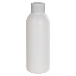 2 oz. HDPE White Cosmo Bottle with Plain 20/410 Cap