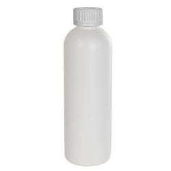 4 oz. HDPE White Cosmo Bottle with CRC 20/410 Cap