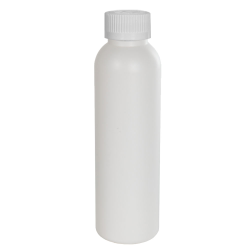 4 oz. HDPE White Cosmo Bottle with CRC 24/410 Cap