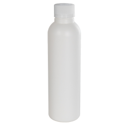 4 oz. HDPE White Tall Cosmo Bottle with CRC 24/410 Cap