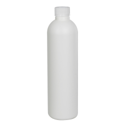 8 oz. HDPE White Cosmo Bottle with CRC 24/410 Cap