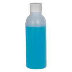 2 oz. HDPE Natural Cosmo Bottle with Plain 20/410 Cap