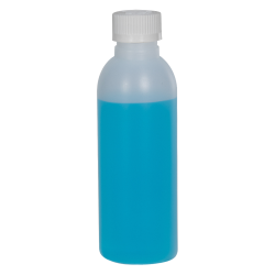 2 oz. HDPE Natural Cosmo Bottle with CRC 20/410 Cap