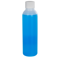 4 oz. HDPE Natural Cosmo Bottle with Plain 20/410 Cap