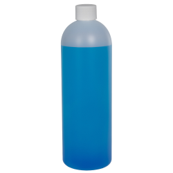 16 oz. HDPE Natural Cosmo Bottle with Plain 24/410 Cap