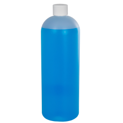 32 oz. HDPE Natural Tall Cosmo Bottle with Plain 28/410 Cap