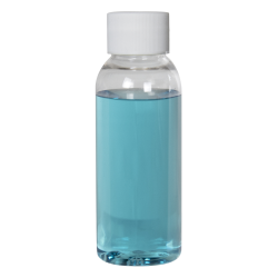 1 oz. Cosmo High Clarity Round Bottle with Plain 20/410 Cap with F217 Liner