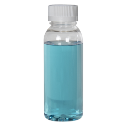 1 oz. Cosmo High Clarity Round Bottle with CRC 20/410 Cap