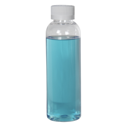 2 oz. Cosmo High Clarity Round Bottle with CRC 20/410 Cap