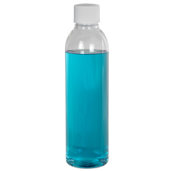 6 oz. Cosmo High Clarity Round Bottle with Plain 24/410 Cap