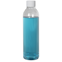 8 oz. Cosmo High Clarity Round Bottle with Plain 24/410 Cap with F217 Liner