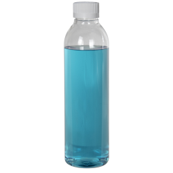 8 oz. Cosmo High Clarity Round Bottle with CRC 24/410 Cap with F217 Liner