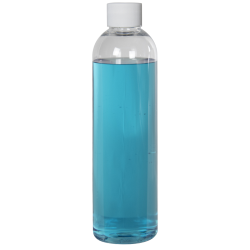 12 oz. Cosmo High Clarity Round Bottle with Plain 24/410 Cap with F217 Liner
