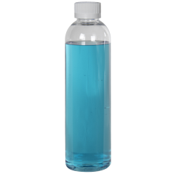 12 oz. Cosmo High Clarity Round Bottle with CRC 24/410 Cap with F217 Liner