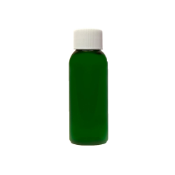 1 oz. Dark Green PET Cosmo Round Bottle with Plain 20/410 Cap