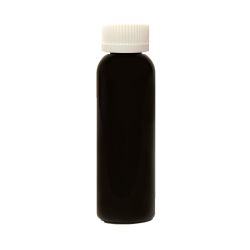 2 oz. Black PET Cosmo Round Bottle with CRC 20/410 Cap