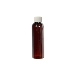 2 oz. Light Amber PET Cosmo Round Bottle with Plain 20/410 Cap