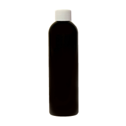 4 oz. Black PET Cosmo Round Bottle with Plain 20/410 Cap