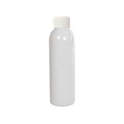 4 oz. White PET Cosmo Round Bottle with Plain 24/410 Cap