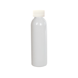 4 oz. White PET Cosmo Round Bottle with CRC 24/410 Cap