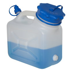 5 Liter Wide Mouth HDPE Jerrican with Blue Vented Cap