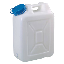 20 Liter Wide Mouth HDPE Jerrican with Blue Vented Cap