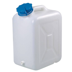 30 Liter Wide Mouth HDPE Jerrican with Blue Vented Cap