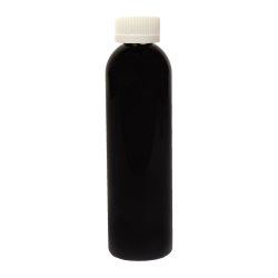 8 oz. Black PET Cosmo Round Bottle with CRC 24/410 Cap