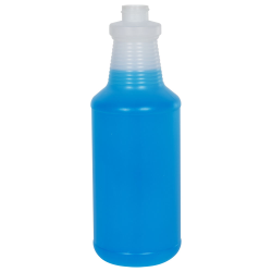 32 oz. Natural HDPE Carafe Spray Bottle with 28/400 Neck (Sprayers or Caps Sold Separately)