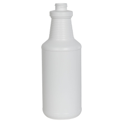 32 oz. White HDPE Carafe Spray Bottle with 28/400 Neck (Sprayers or Caps Sold Separately)