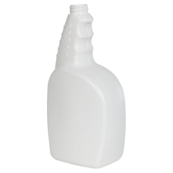32 oz. White HDPE Trigger Spray Bottle with 28/400 Neck (Sprayer Sold Separately)