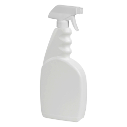 23 oz. White Trigger Spray Bottle with 28/400 Sprayer