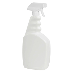 33 oz. White Trigger Spray Bottle with 28/400 Sprayer