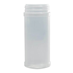 16 oz. Natural HDPE Round Spice Jar with 63/485 Neck (Cap Sold Separately)