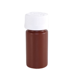 1/2 oz. Brown PET Round Liquid Bottle with 20mm CR Cap