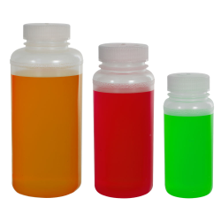 Precisionware™ Polypropylene Wide Mouth Bottles with Caps