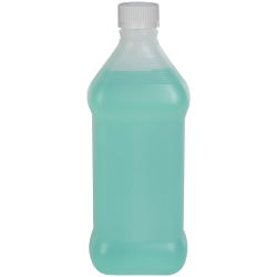 16 oz. Natural HDPE Oval Rubbing Alcohol Bottle with 28/410 CRC Cap