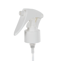 "24/410 White Mini Trigger Sprayer with 6-3/4"" Dip Tube & Locking Ship Clip"