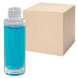 1 oz. Clear Tall Cylinder Glass Bottle with 20/410 Neck - Case of 216 (Cap Sold Separately)