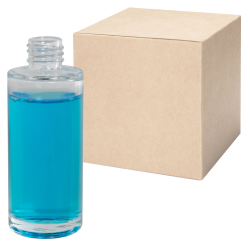 2 oz. Clear Tall Cylinder Glass Bottle with 20/410 Neck - Case of 144 (Cap Sold Separately)